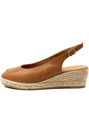 Django & Juliette Saniarly Dj Dk Tan Natural Rope Sandals Womens Shoes Casual Heeled Sandals