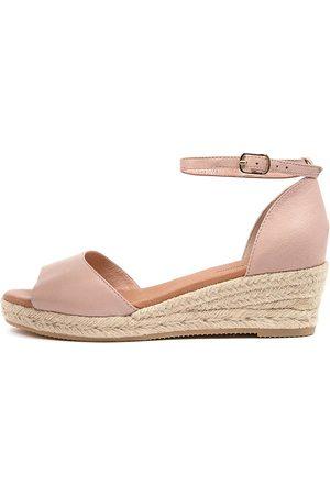 Django & Juliette Skip Djl Rose Natural Rope Sandals Womens Shoes Casual Heeled Sandals
