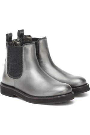 Brunello Cucinelli Leather Chelsea boots