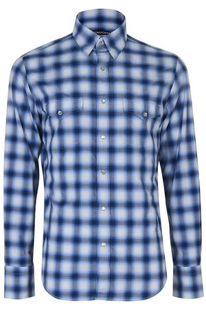 Tom Ford Faded check western shirt