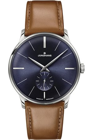 Junghans Men Watches - 027/3504.00 Meister Hand-winding stainless steel and leather watch