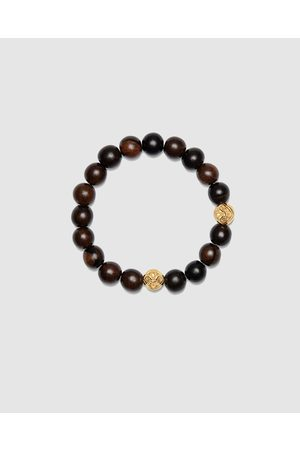 Nialaya Men Bracelets - Men's Wristband with Ebony - Jewellery Men's Wristband with Ebony