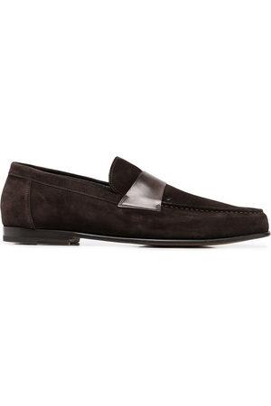 santoni Slip-on suede loafers