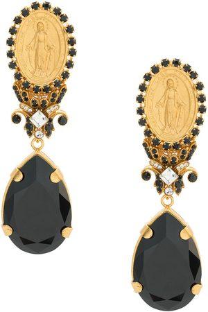 Dolce & Gabbana Votive crystal detailed earrings
