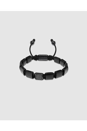 Nialaya Men Bracelets - The CZ Flatbead Collection Matte Onyx - Jewellery The CZ Flatbead Collection - Matte Onyx