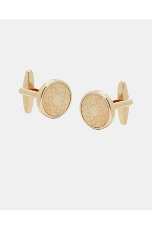 Buckle Rose Cufflinks with Flora Motif - Ties & Cufflinks (Brushed ) Rose Cufflinks with Flora Motif