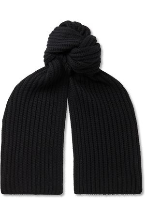 Loro Piana Men Scarves - Ribbed Cashmere Scarf