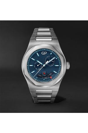 Girard Perregaux Men Watches - Laureato Perpetual Calendar 42mm Automatic Stainless Steel Watch, Ref. No. 81035-11-431-11A