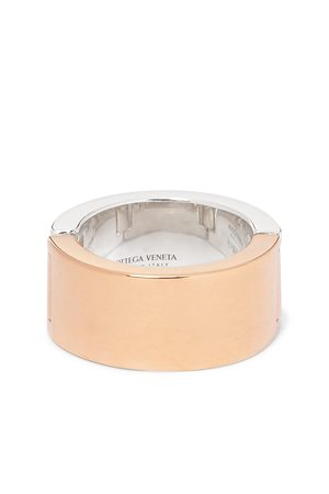 Bottega Veneta Men Rings - Sterling and Gold-Plated Ring