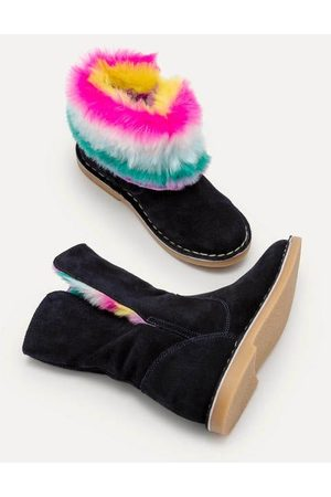 Boden Mini Cosy Suede Boots Girls Boden