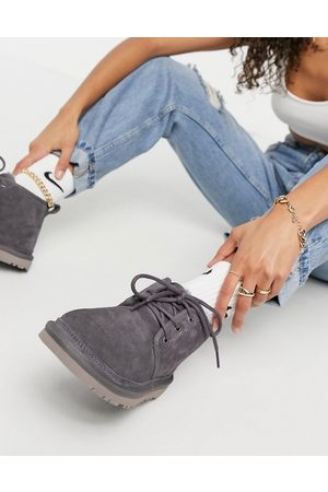 UGG Neumel lace-up ankle boots in nightfall grey