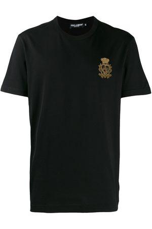 Dolce & Gabbana Men Short Sleeve - Embroidered motif T-shirt