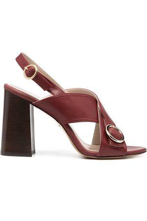 Tila March Women Heels - Sling-back block heel sandals