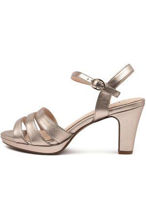 SUPERSOFT Women Heeled Sandals - Stawell Su Champagne Sandals Womens Shoes Dress Heeled Sandals
