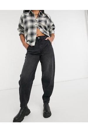 Only Slouchy jeans in washed black