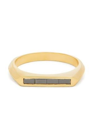 Lizzie Mandler Knife Edge -diamond & 18kt Ring - Womens