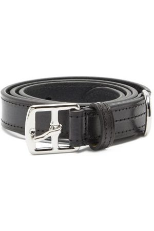 Anderson's Buckled Topstitched Leather Belt - Mens