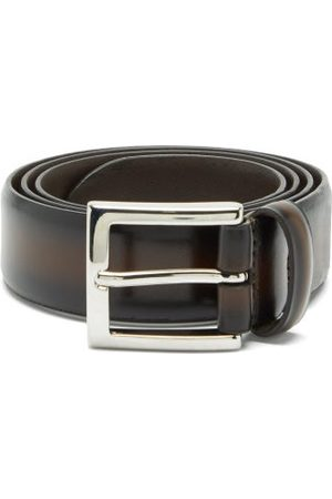Anderson's Distressed-leather Belt - Mens - Dark