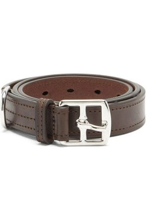 Anderson's Topstitched Leather Belt - Mens