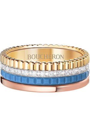 Boucheron 18kt diamond Quatre Blue Edition small ring