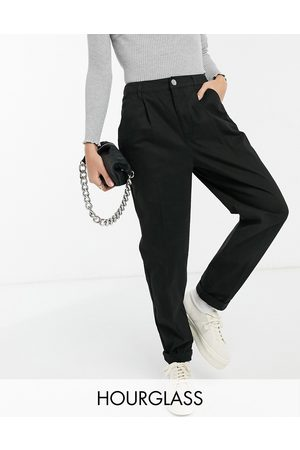 ASOS Hourglass chino pants in black