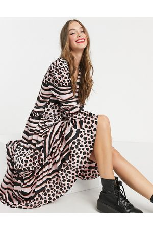 Liquorish Women Printed Dresses - A-line midi dress in print