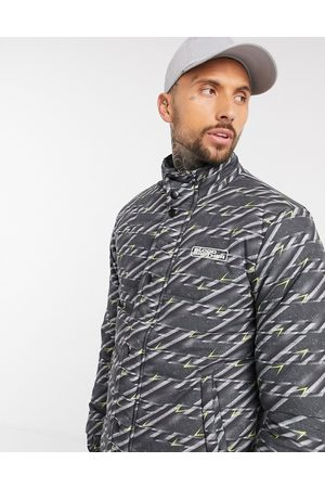 Blood Brother Manor printed puffer jacket in black-Multi