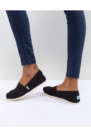 TOMS Classic canvas flat shoes in black