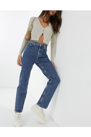 & OTHER STORIES Women Straight - & Favourite organic cotton cropped slim straight leg jean in intense blue