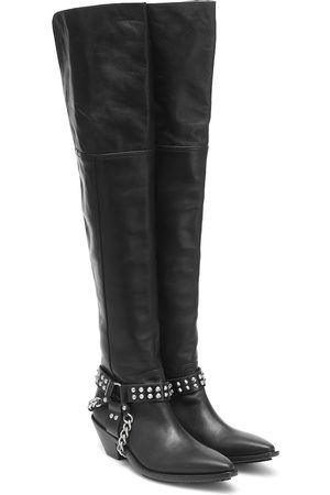 JUNYA WATANABE Leather over-the-knee boots