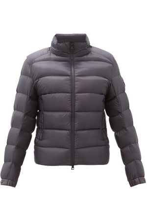 Moncler Logo-patch Hooded Down-quilted Shell Jacket - Mens - Navy