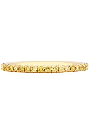 De Beers 18kt gold diamond Aura Eternity band ring