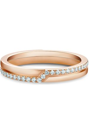 De Beers 18kt rose gold The Promise diamond ring
