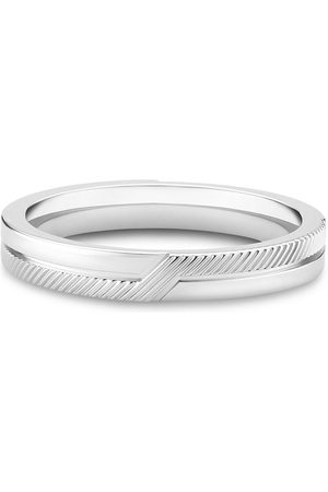 De Beers 18kt white gold The Promise band ring