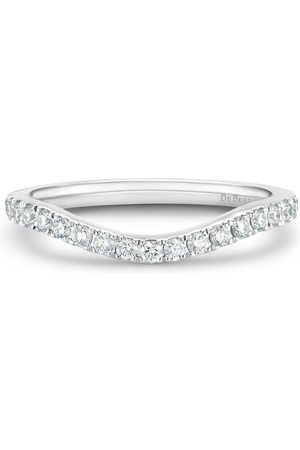 De Beers Platinum DB Classic half diamond eternity shaped band