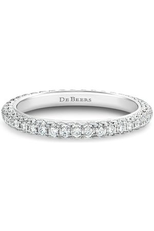 De Beers Women Rings - 18kt gold DB Darling eternity diamond band