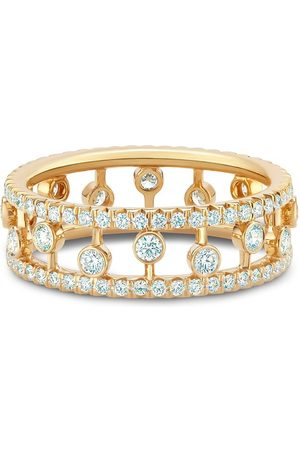 De Beers 18kt yellow Dewdrop diamond band