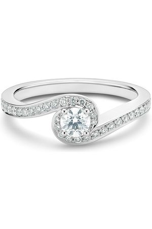 De Beers Platinum My First Caress round brilliant diamond ring