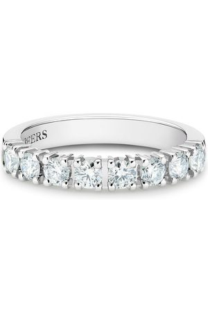 De Beers Platinum DB Classic half diamond eternity band