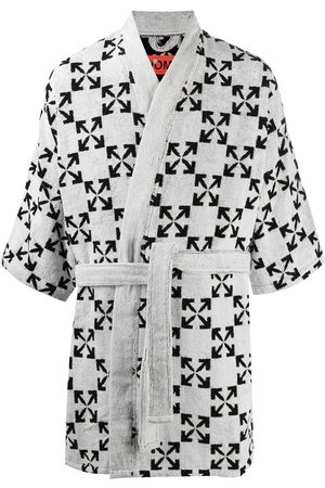 OFF-WHITE Men Bathrobes - Arrows pattern bathrobe