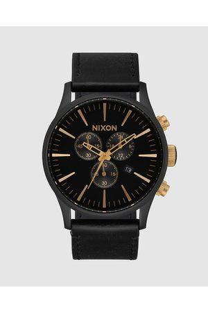 Nixon Sentry Chrono Leather Watch - Watches (Matte , & ) Sentry Chrono Leather Watch