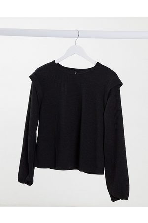 Only Sweat top with shoulder detail in black