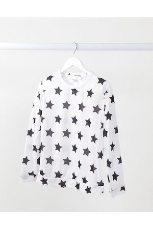 Outrageous Fortune Nightwear jumper in white star print-Multi