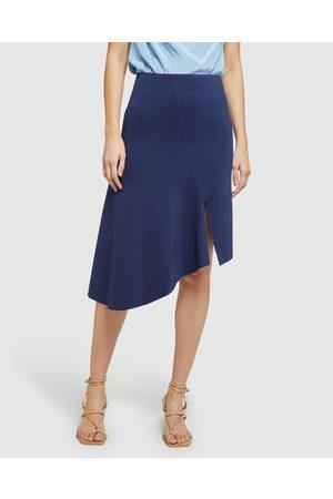 Oxford Women Pencil Skirts - Lucy Asymetric Hem Ponti Skirt - Pencil skirts Lucy Asymetric Hem Ponti Skirt