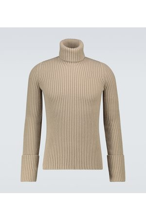Bottega Veneta Distorted ribbed turtleneck sweater