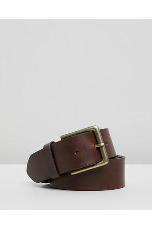 Double Oak Mills Men Belts - Smooth Leather 40mm Belt - Belts ( & ) Smooth Leather 40mm Belt