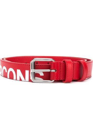 Comme des Garçons Cut-off logo leather belt