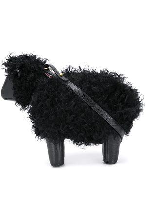 Thom Browne Women Shoulder Bags - Small Sheep pebbled crossbody bag