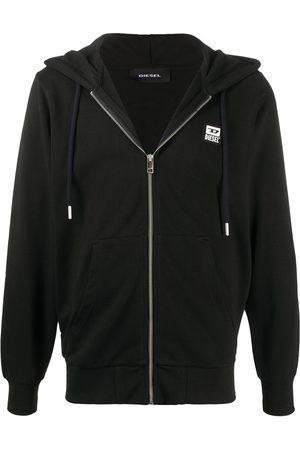 Diesel Men Hoodies - Zip-up logo patch hoodie