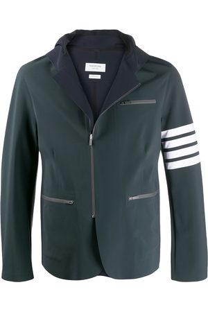 Thom Browne Compression Hooded 4-bar jacket